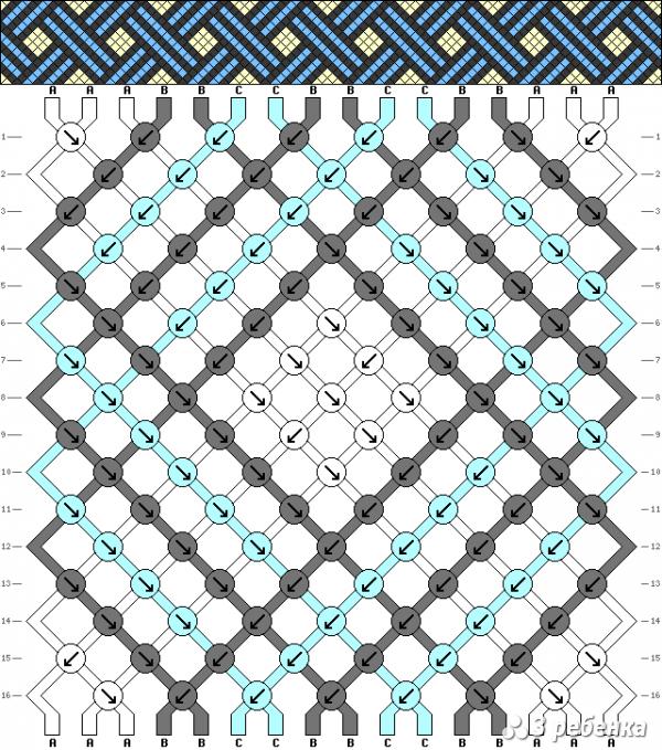 Схема фенечки 17450