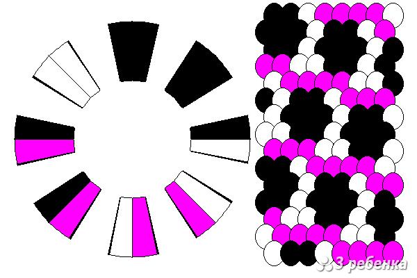 Схема фенечки кумихимо 18572