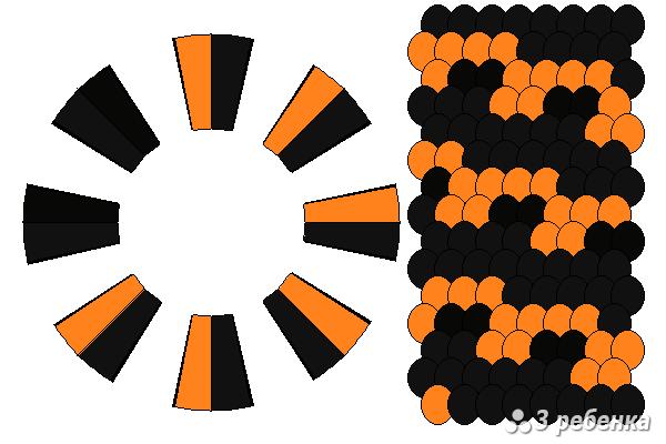 Схема фенечки кумихимо 18568