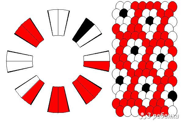 Схема фенечки кумихимо 18564