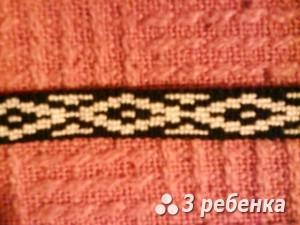 Схема фенечки прямым плетением 18183