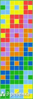 Схема фенечки прямым плетением 18162
