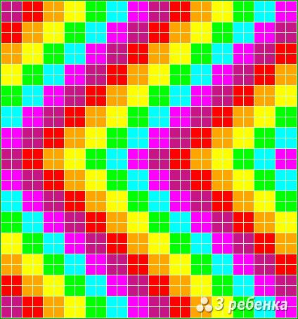 Схема фенечки прямым плетением 18072