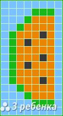 Схема фенечки прямым плетением 18195