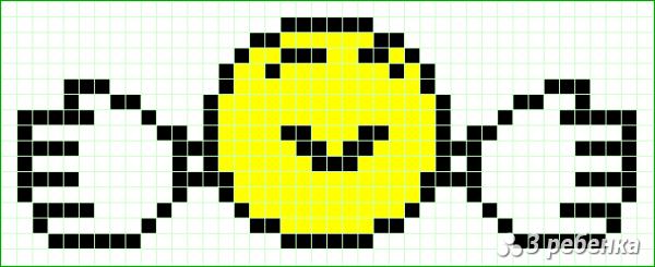 Схема фенечки прямым плетением 17721