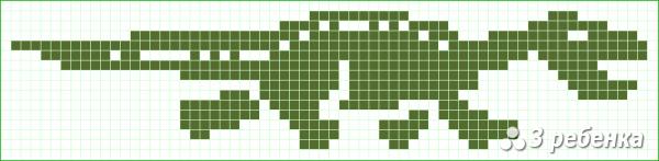 Схема фенечки прямым плетением 17644