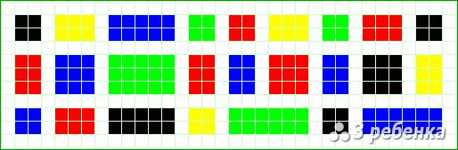 Схема фенечки прямым плетением 17649