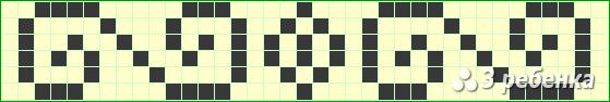 Схема фенечки прямым плетением 18351