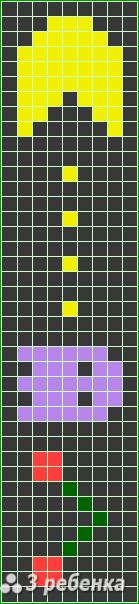 Схема фенечки прямым плетением 17840