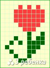 Схема фенечки прямым плетением 18362