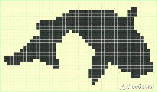 Схема фенечки прямым плетением 17830