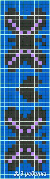 Схема фенечки прямым плетением 17835