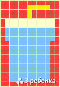 Схема фенечки прямым плетением 18310