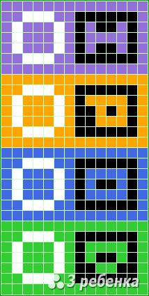 Схема фенечки прямым плетением 18341