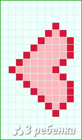 Схема фенечки прямым плетением 18321