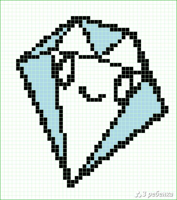 Схема фенечки прямым плетением 18346
