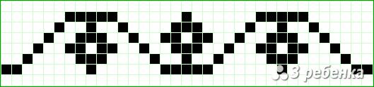 Схема фенечки прямым плетением 18299