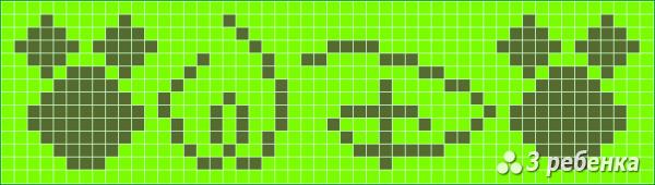 Схема фенечки прямым плетением 18356