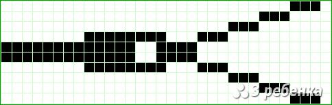 Схема фенечки прямым плетением 17731
