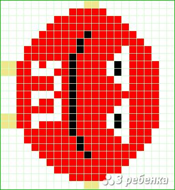 Схема фенечки прямым плетением 17726