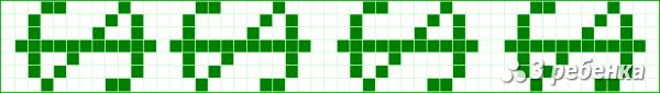 Схема фенечки прямым плетением 17742