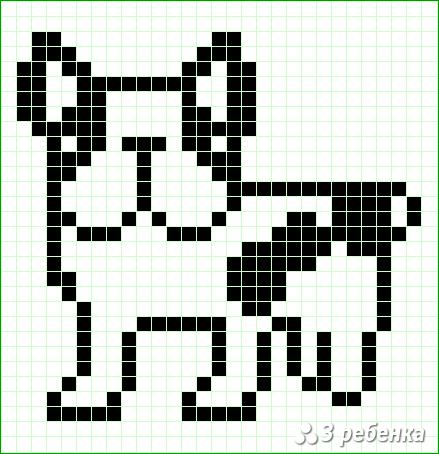 Схема фенечки прямым плетением