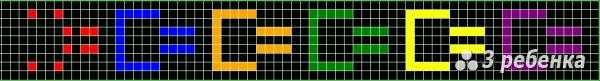 Схема фенечки прямым плетением 17737