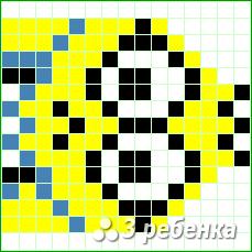 Схема фенечки прямым плетением 17639