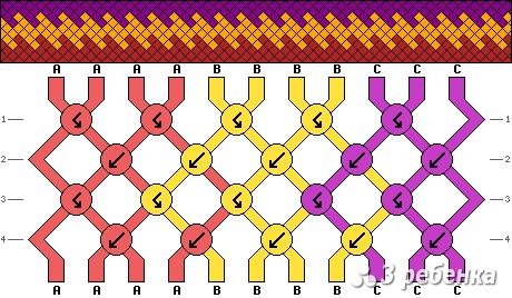 Схема фенечки 18004