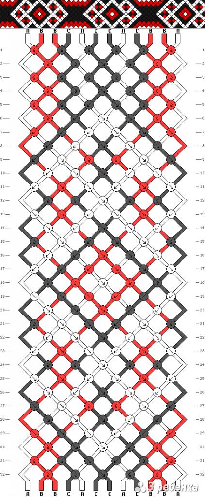 Схема фенечки 17999