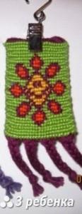 Схема фенечки прямым плетением 18670
