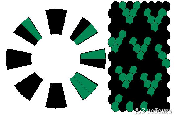 Схема фенечки кумихимо 19333