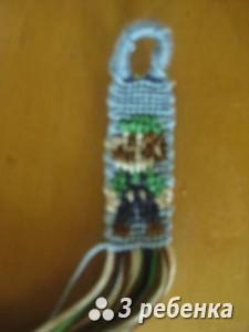 Схема фенечки прямым плетением 18907