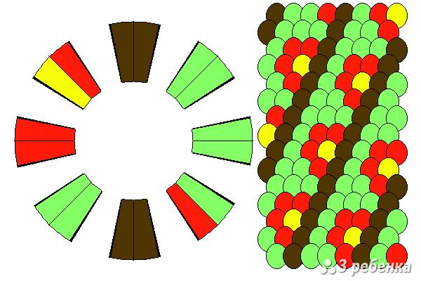 Схема фенечки кумихимо 19022