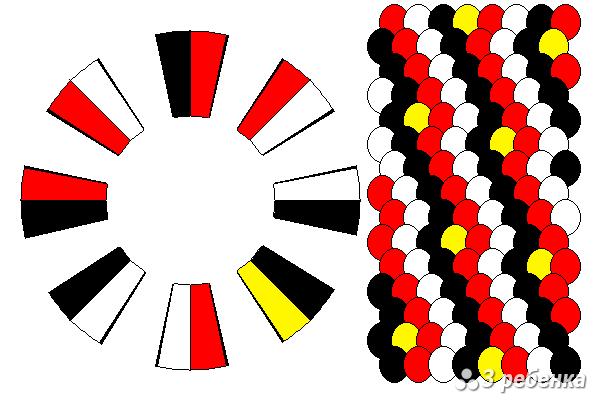 Схема фенечки кумихимо 19014