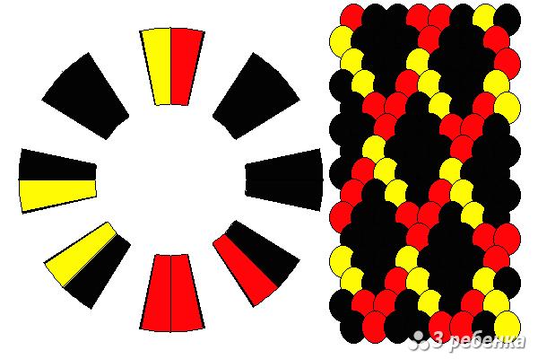 Схема фенечки кумихимо 18961