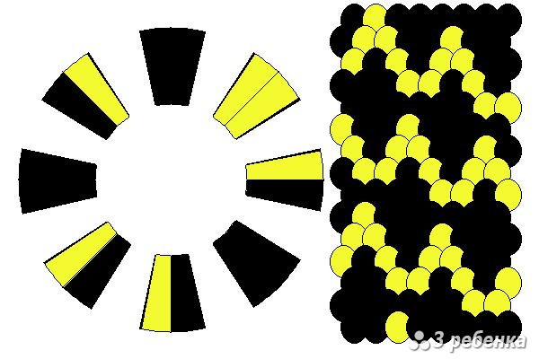 Схема фенечки кумихимо 18957