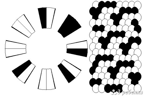 Схема фенечки кумихимо 18953
