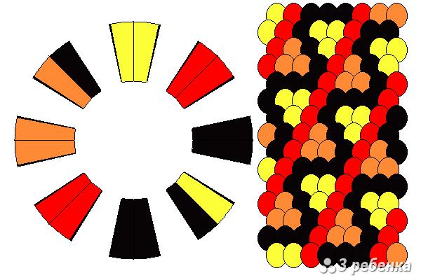 Схема фенечки кумихимо 18880