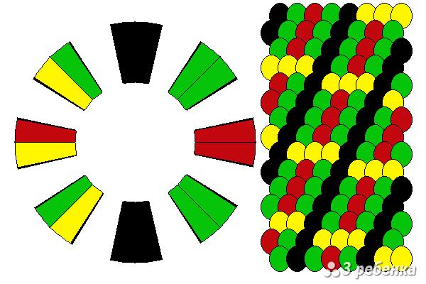 Схема фенечки кумихимо 18868