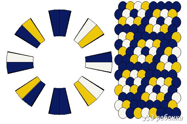 Схема фенечки кумихимо 18864