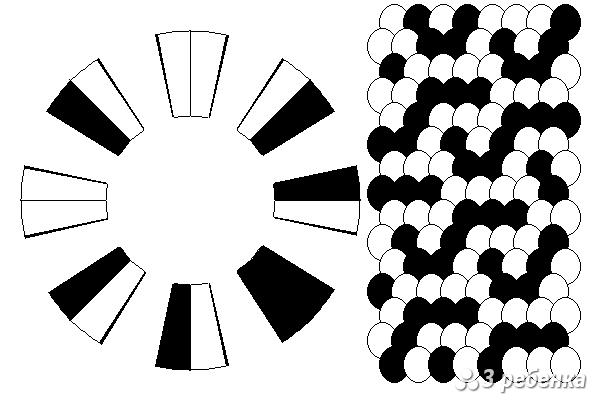 Схема фенечки кумихимо 19341