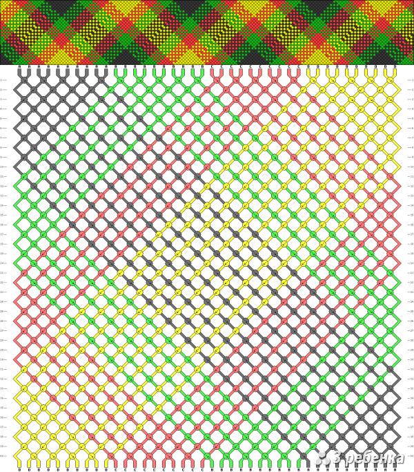 Схема фенечки 18104