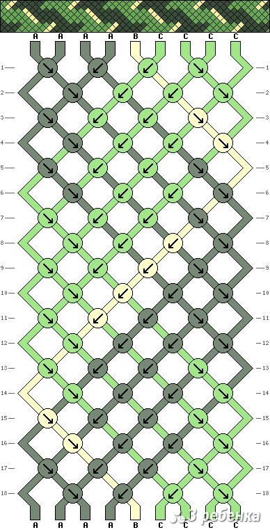 Схема фенечки 17918