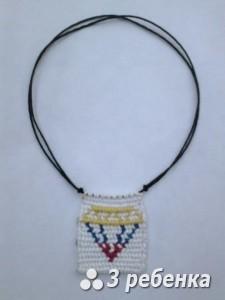 Схема фенечки прямым плетением 18776