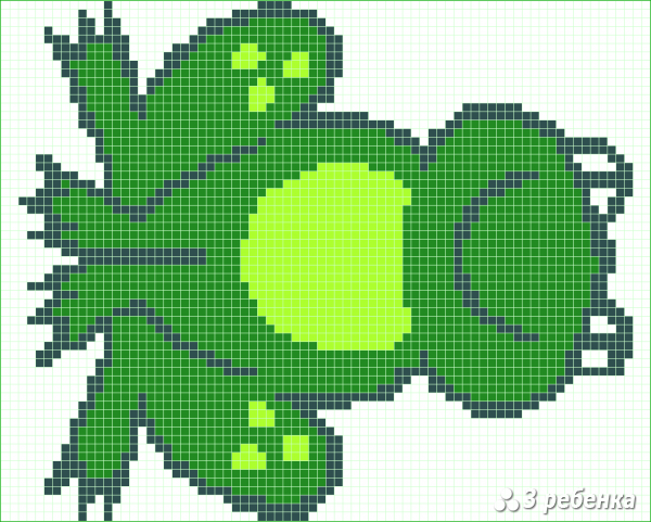 Схема фенечки прямым плетением 18505