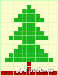 Схема фенечки прямым плетением 18476