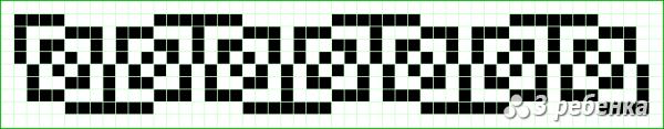 Схема фенечки прямым плетением 18481