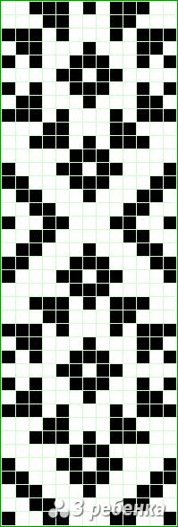 Схема фенечки прямым плетением 18486