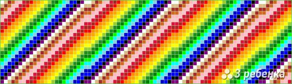 Схема фенечки прямым плетением 18676